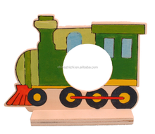 DIY Painting Wooden train toys educational kits for kids
