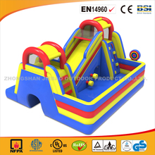 Obstacle BouncerWith Super Slide In Cheap Price/Rental Use Inflatable Jumping Bouncer With Slide/Hot Sale Slide Bouncer