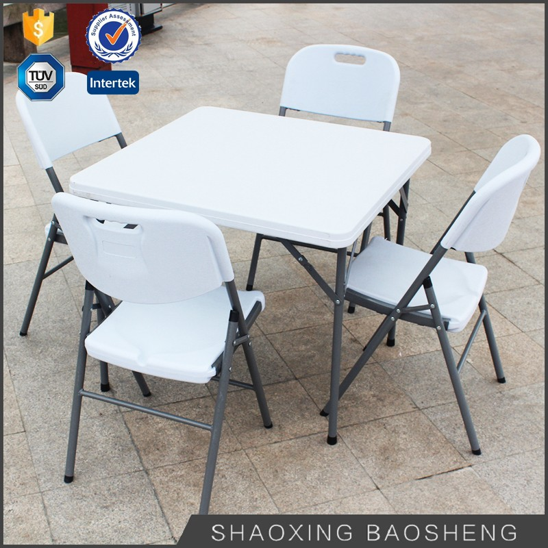 hotsale outdoor picnic camping square plastic folding table