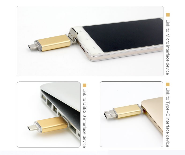 2017 hot new products fashion type c usb stick for mobile phone