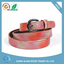 Chinese Wholesale ladies fashion leather Belts With Changeable Buckles