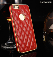 New Fashion Mobile Phone Leather Phone Case For Iphone6 +Metal Bumper