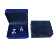 Fashion new style custom cufflinks and tie clip box