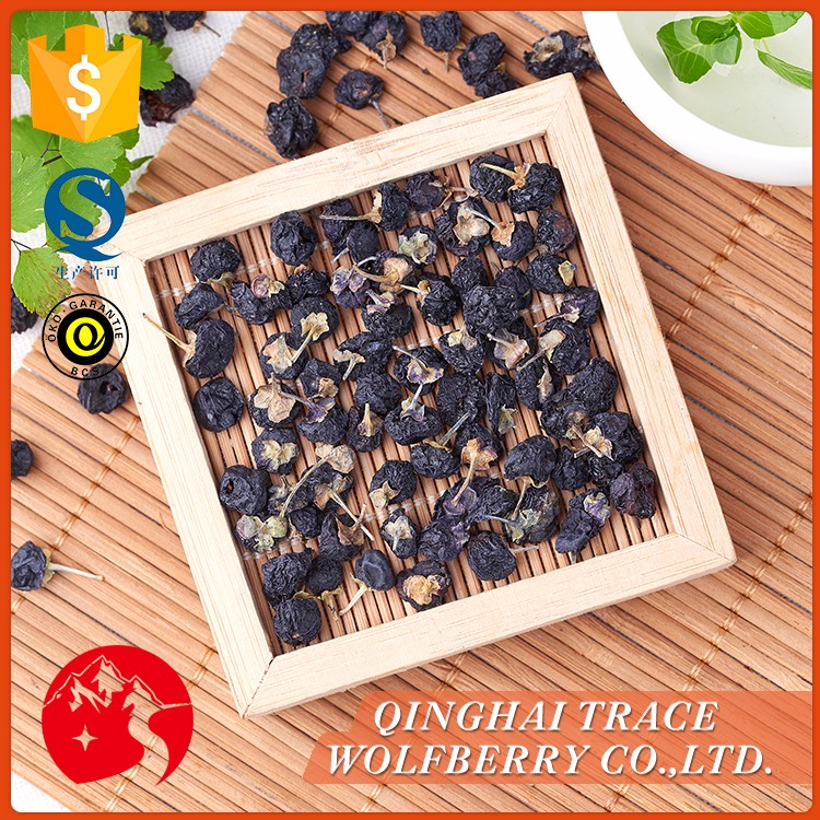 Black wolfberry,organic certifited black goji berry