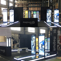 Detian Offer 6x9 backlit exhibition booth design for trade show with raised floor