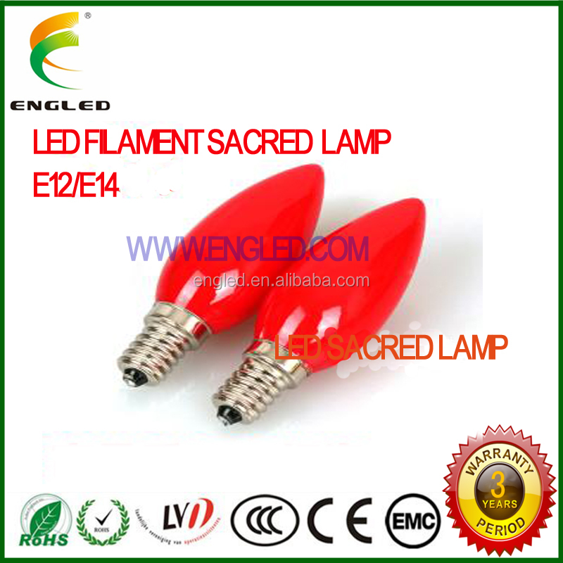Newest style!!LED filament bulb of buddhist light, god of wealth lamp,temple lamp, sacred lamp