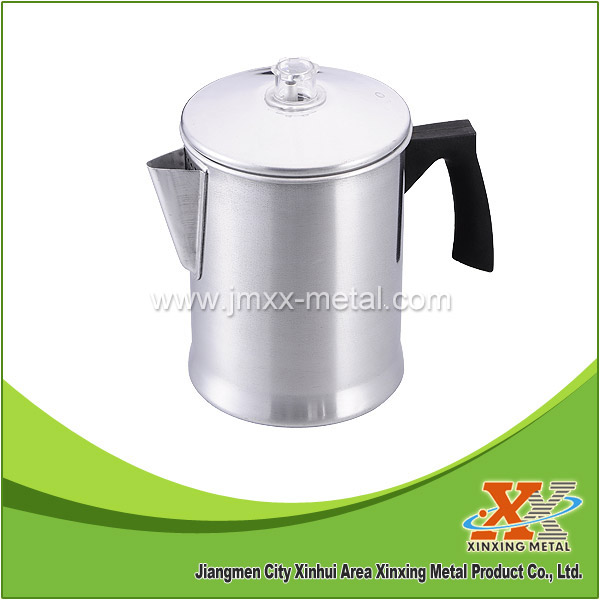 New Item 7Cups Portable Camping Aluminum Tea Percolator Coffee Pot