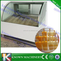 High Quality Glass popsicle Display Showcase/ Italian Gelato Popsicle Display Showcase/ Ice Cream Popsicle Display Cabinet