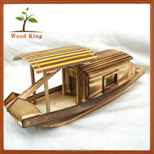 Wholesale Fishing Model Craft Boat Decoration Home Furnishing Lift Mini Small Wooden Chinese Boat
