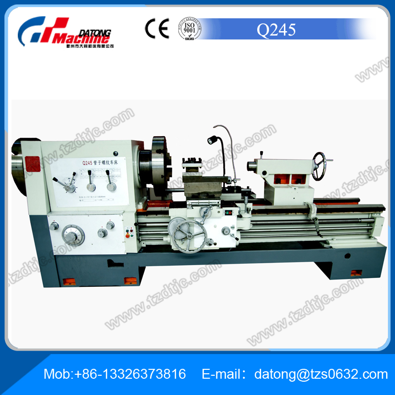 pipe threading lathe machine