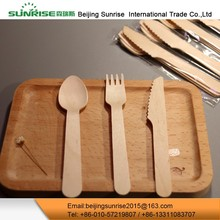 Eco-Friendly Wooden Kitchen Reusable Knife Cutlery Set