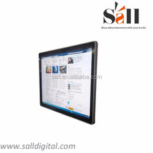 "55"" wall mounted digital notice board for information"
