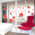 Removable Red rose and photo wall DIY decorative wall sticker