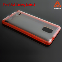 2016 High quality cell phone tpu bumper +pc back cover case for samsung galaxy note 4 cover ,mobile phone case for samsung note4