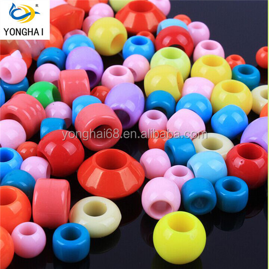 DIY Acrylic Large Hole Colorful Beads