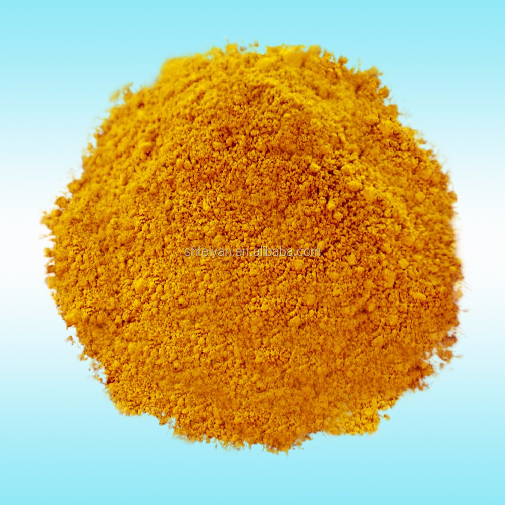 Pigment iron oxide yellow for master batch