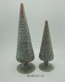 Cone shaped glass christmas tree for home decorations