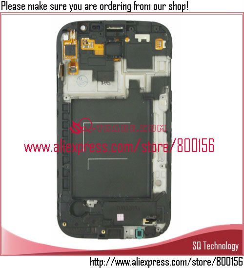 Mobile Phone LCD For Samsung For Galaxy Grand DUOS i9082 with Touch Screen + Frame Assembly White Color
