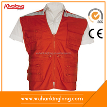 Beautiful Hot Sale Red Safety Vest