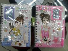 Colorful Spiral Notebook with Mirror and pen