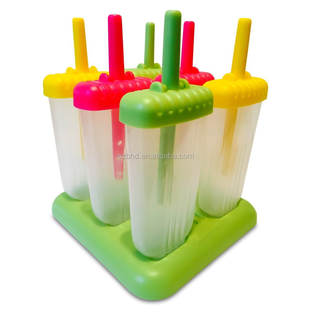 Set of 6 BPA Free Popsicle Molds, Ice Pop Molds, Ice Pop Maker