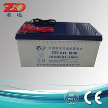 12v 250ah solar street light battery rechargeable battery AGM battery for UPS, deep cycle