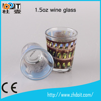 China supplier wine glass sublimation shot glass 1.5oz wine glass