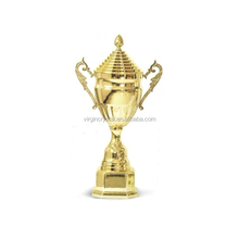 Full r sports trophy golden trophy cup with lid trophy metal