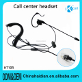 2018 News Rj09 Rj11 DC singel Headset with Noise Reduction MIC For call center service&Walkie - talkie