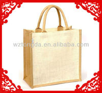 Jute bag with cotton rope handle (WZ5189)