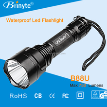 High power Brinyte B88 Aluminum strong light led torch flashlight for military