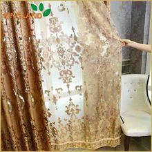 Latest curtain fashion lace design living room curtains