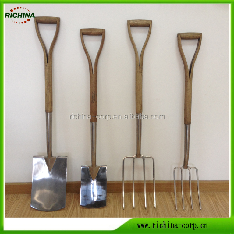 High quality,Stainless material, FSC wood handle, shovel, spade, fork, Garden Tools