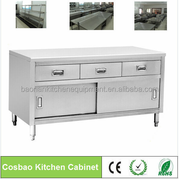 Cabinet kitchens restaurant equipment stainless steel for Stainless steel kitchen cabinet price