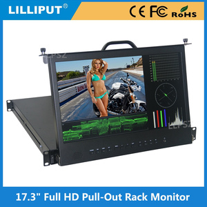 17.3 inch 1RU IPS Full HD Resolution Monitor With 3G-SDI, HDMI, DVI, Audio & Tally inputs