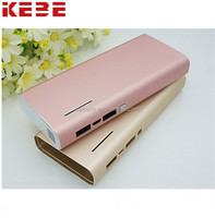 KEBE Unique Portable Power Bank For Smartphone Mobile charger Aluminum alloy Mobile charger 12500MAh