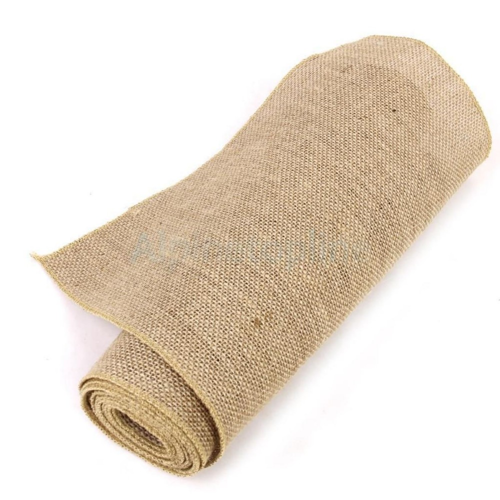 Hemp fabric cloth roll christmas home decoration natural jute roll