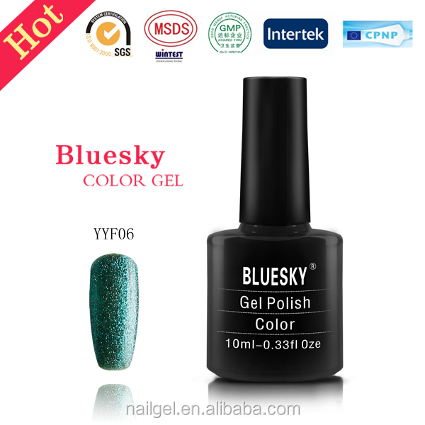 soak off gel ,uv gel nail polish bluesky YYF05