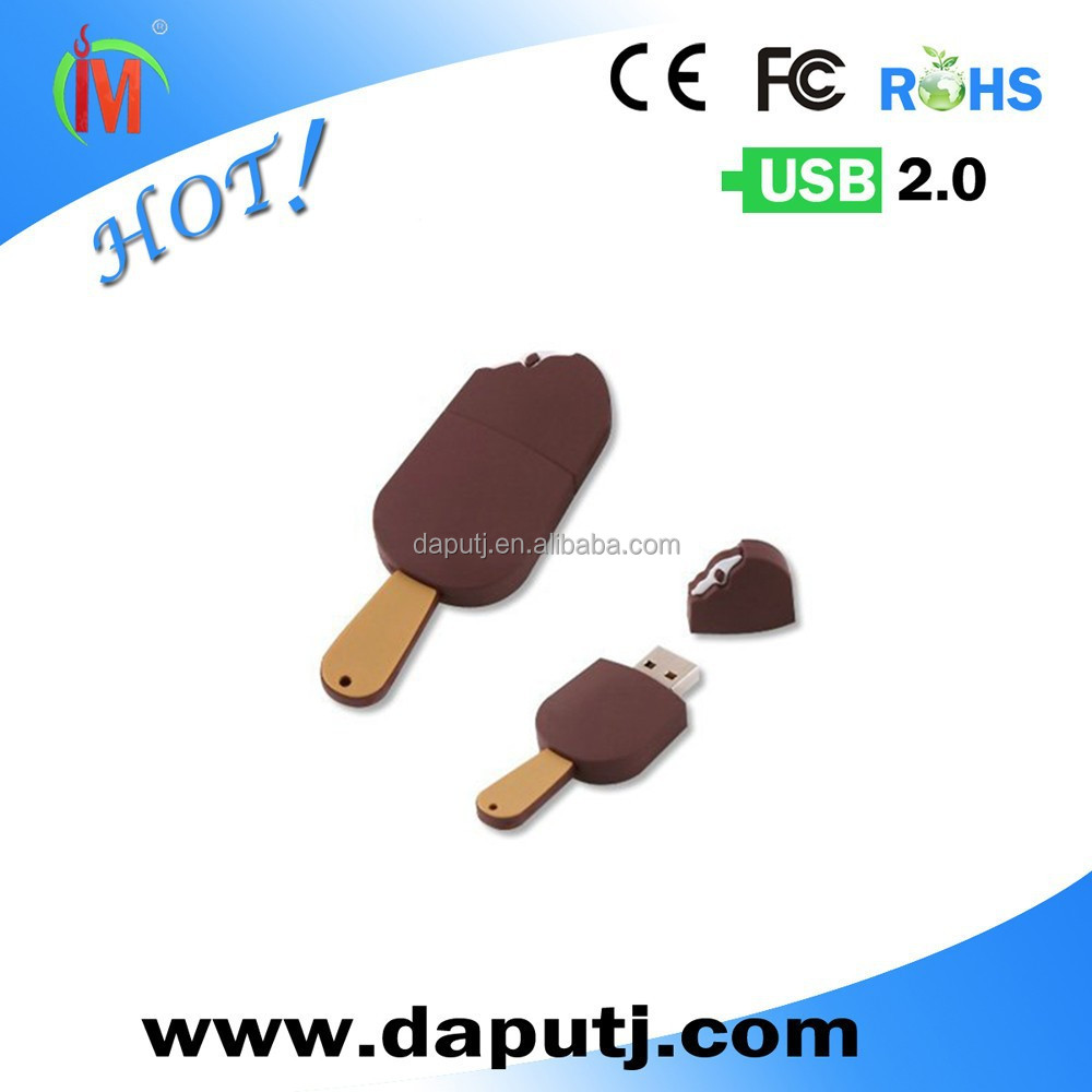 Custom PVC Ice Cream Usb Flash Drive Disk Usb Flash