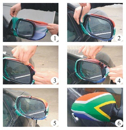 custom car side mirror cover flag