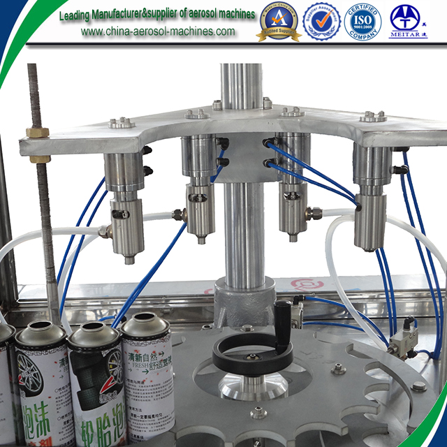 automatic spray aerosol filling capping machine