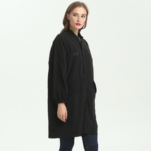 Fashion cheap girl latest ladies black overcoat designs