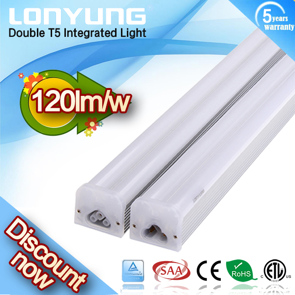 New design T5 double led good feedback hot sell in USA 100lm/w 2ft 3ft 4ft T5 double batten tube