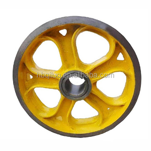 Elevator Parts In China Grey Cast Iron Pulleys Foundry Industrial Provide High Quality Flywheel The Elevator Traction Wheel