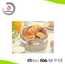 Hot Sell 2015 New Products For Stainless Steel Colth Bread Basket Cotton Fabric Bread Basket