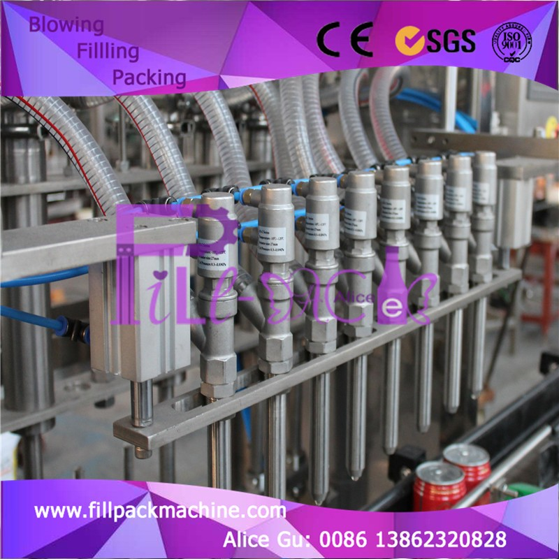 Oil filling plant for plastic or glass bottle or pop can Concentrate filling machine
