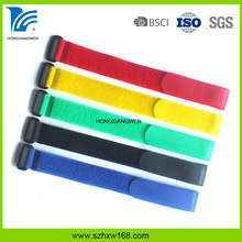Heavy duty self gripping reusable self-gripping cable ties