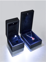 Beautiful and unqiue design LED light jewelry ring packaging box