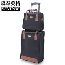 0705 oxford pattern fabric travel bag trip wheel carters bag trolley suitcase trolley luggage