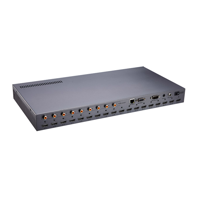 video matrix switcher 9x9 with audio extractor, controlled via TCP/IP or RS232, switch splitter hdmi 13 or DVI